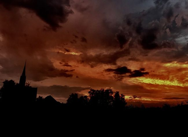 Sunset after a storm Sunset After The Storm Kappel Am Albis Kloster Dramatic Sky Sky Cloud - Sky Silhouette Sunset Beauty In Nature Tree Architecture