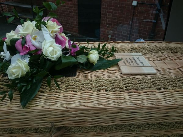 Goodbye my dear mother... 💔 Flower Goodbye Goodbye Mother Coffin Wicker Wicker Coffin Farewell Mom Mother Old But Awesome Gone But Never Forgotten My Life ❤ Till We Meet Again.. My L❤VE See You On The Other Side.. Sadness😢 Nofilter No Filters Or Effects No Filter No Edit Just Reality No Filter, No Edit, Just Photography