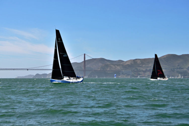 Sailing Aboard The Alma 8 San Francisco CA🇺🇸 The Alma 80ft Scow Schooner Built 1869 Bow Sailing San Francisco Bay Golden Gate Bridge The Color Of Sport Sailboats Yachts Yachting Racing Tacking Training For America's Cup Bayview A Day On The Bay Enjoying Life ♥ Marin Headlands Leisure Activity Watersports Landscape_Collection Landscape_photography Wind Power