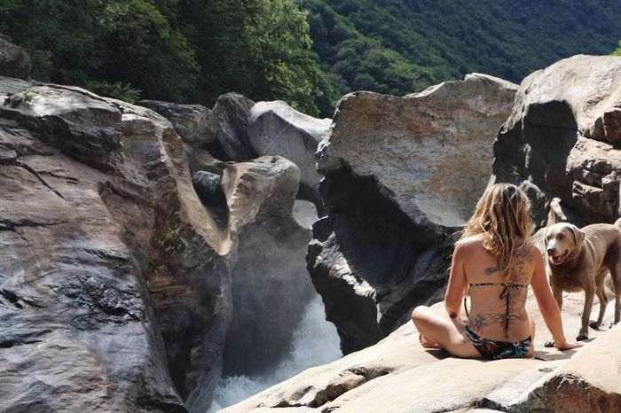 Adults Only Only Women Rock - Object Two People Rear View Adult Young Adult Day People Young Women Outdoors Vacations Nature Sitting Women Water Dog Summer Beauty In Nature Bikini One Person Nature Wonderful Nature Mountain Memyselfandı Summer Exploratorium