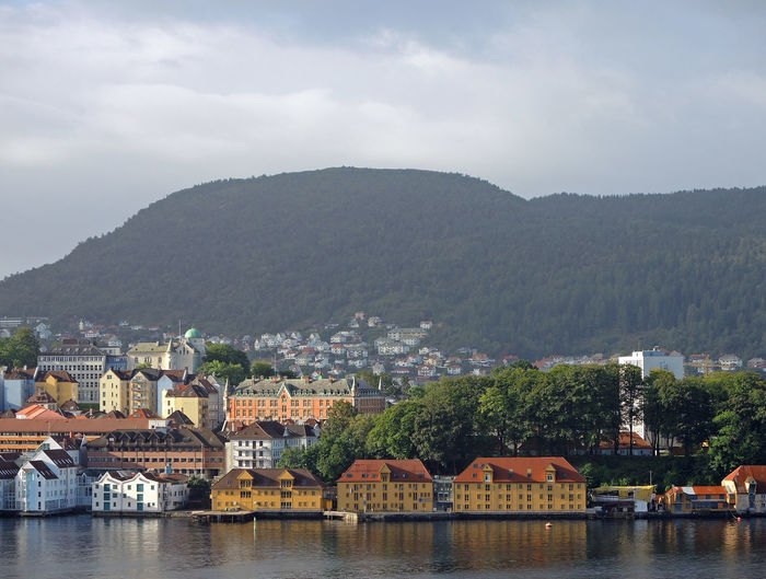 Bergen Bergen,Norway EyeEmNewHere Houses Norway The Week On EyeEm Architecture Beauty In Nature Building Exterior Built Structure City Clouds And Sky Day Mountain Mountain Range Nature No People Outdoors River Sky Town Tree Water Waterfront