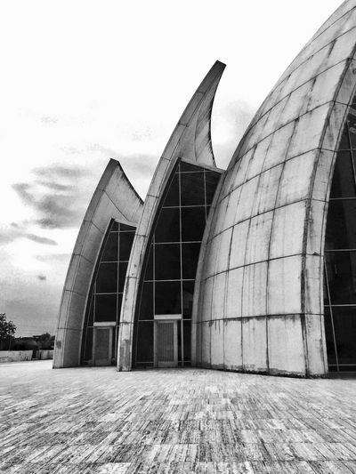 Architecture Architecture Photography Blackandwhite Building Exterior Cement Church Glass Grey Jubilee Church Low Angle View Material World Meier Metal Poetry Prospective Reflection Religious Architecture Richard Meier Roma