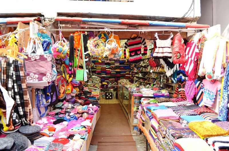 Multi Colored Clothing Market Stall Variation Business Large Group Of Objects Woolens Source Of Earning EyeEmNewHere