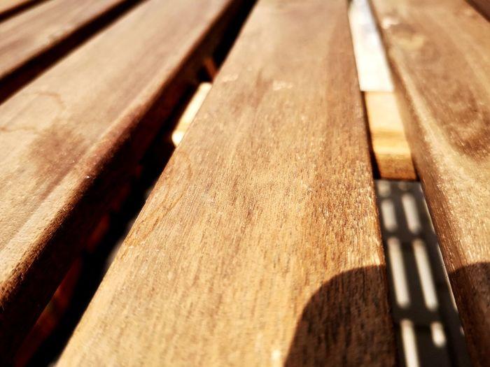 Full frame shot of old wooden bench