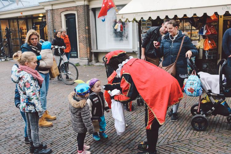 Day Family Festival Festival Season Grote Markt Large Group Of People Netherlands Outdoors People Saint Nicholas Sint-Nicolaas Sinterklaas War Women Zwarte Piet