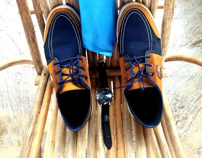 EyeEm Selects Shoelace High Angle View Wedding Day Grooms Shoe Pair Gettingready Wooden Africa Still Life