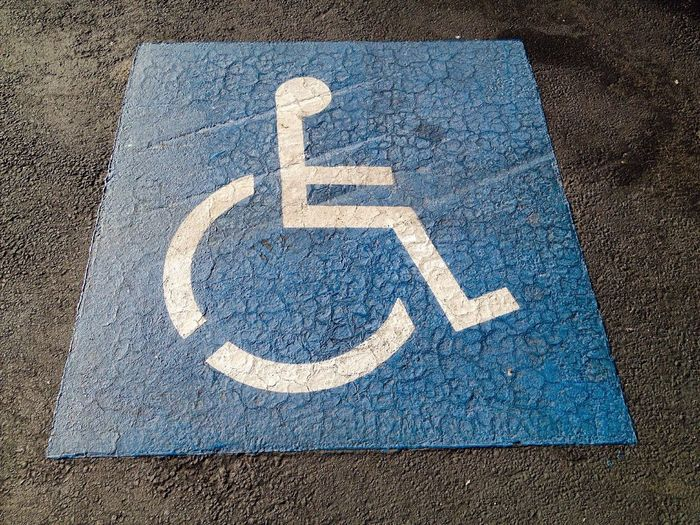 Handicap Sign for a Parking Stall