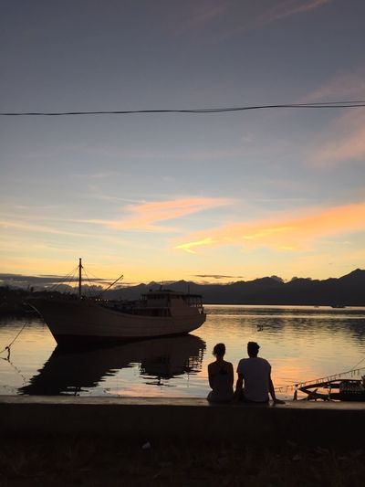 Live For The Story Sunset Silhouette Cloud - Sky Shipwreck Philippines Puerto Princesa Travel Destinations Sky Sea Port Harbour Sunset
