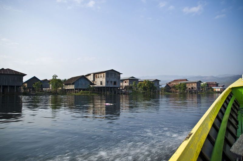 Architecture Boat Building Exterior Built Structure Burma Check This Out Clear Sky Day Flood Holiday House Inle Lake Myanmar Nature No People Outdoors Sky Travel Water