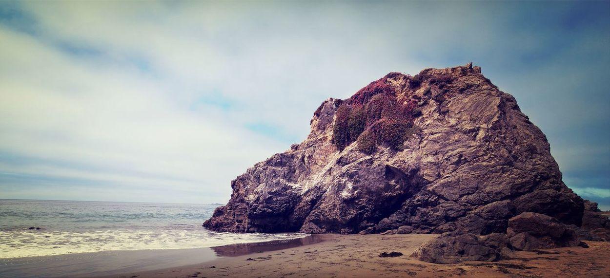 Rock on a beach Sonomacounty California Coast Landscape