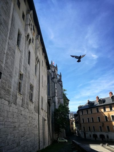 Flying Architecture Building Exterior Low Angle View Outdoors City Savoie Castel