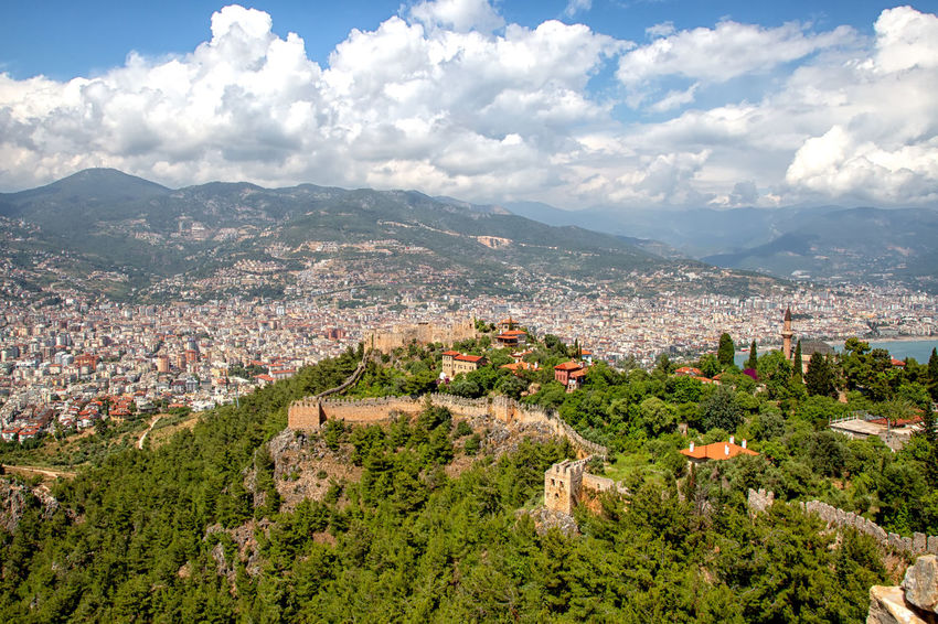 Alanya Castle Turkey Alanya Castle Architecture Beauty In Nature Building Building Exterior Built Structure City Cityscape Cloud - Sky Environment Fortress Fortress Wall Landscape Mountain Mountain Range Nature Plant Sky Stone TOWNSCAPE Tree Urban Sprawl