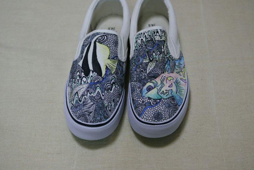 深海魚 Shoes Design Order Fish Swim