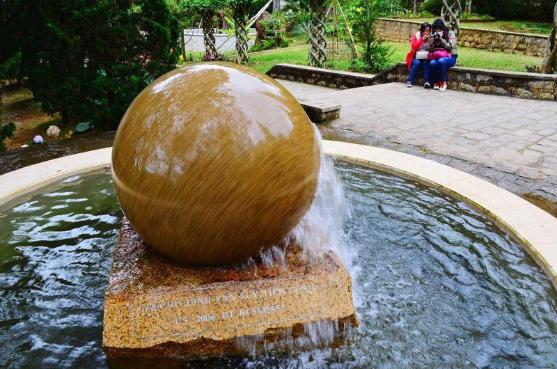 A fountain in the Truc Lam pagoda in Dalat Da Lat Truc Lam Fountain Vietnam