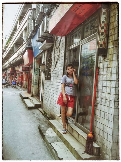 Architecture China China Photos City Day Outdoors Red Skirt Street Streetphotography Young Adult Young Women