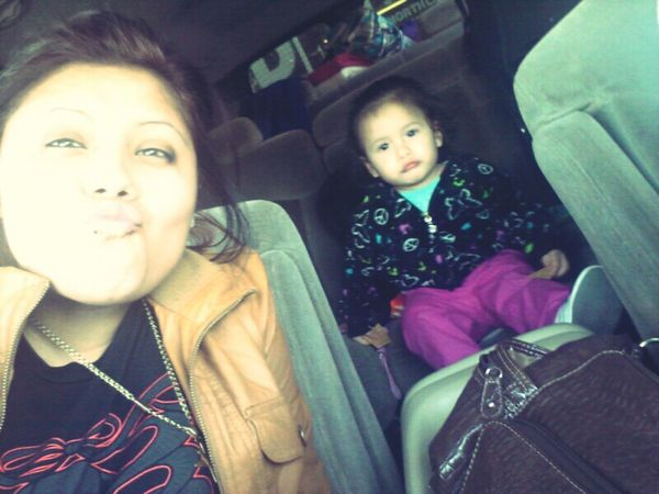 Earlier on today,, yupp we look a hot mess but best believe we kan still pull,, haha we b turning heads ;)