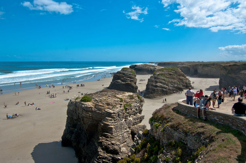 Beach Beauty In Nature Best Beach Ever Cathedrals Beach Galicia Horizon Over Water Leisure Activity Nature Playa #beach Playa De Las Catedrales Rock - Object Sea