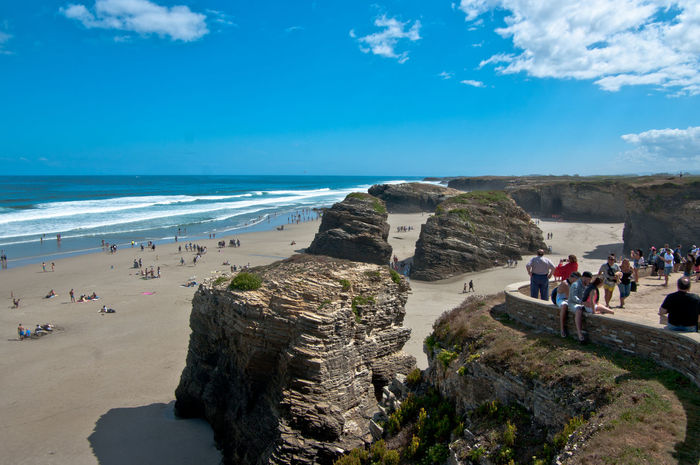 Beauty In Nature Bestbeachever Blue Can Cathedrals Beach Day Galicia Geological Giants Horizon Over Water Landscape Large Group Of People Leisure Activity Lifestyles Lugo Men Nature Neighborhood Map Playa De Las Catedrales Real People Rock - Object Sea Sky Travel Destinations Women
