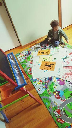 Kidsartwork Kidsartist Kids Having Fun Kids Art Paintings Watercolor Painting Drawing - Activity Watercolor Paints