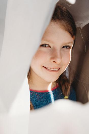 Portrait of smiling girl