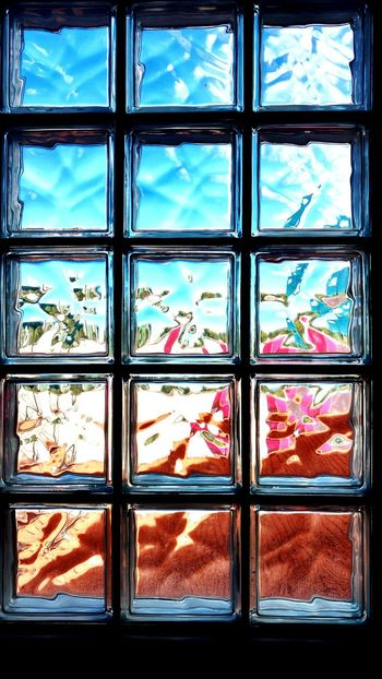 Virtual beach - Window Indoors  Full Frame No People Day Reflection Abstract