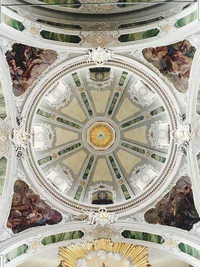 Ceiling Dome Architecture Travel Destinations Low Angle View Indoors  History Built Structure Fresco No People Day Jesuitenkirche God Pastor Belive Indoors  Place Of Worship Religion Mannheim
