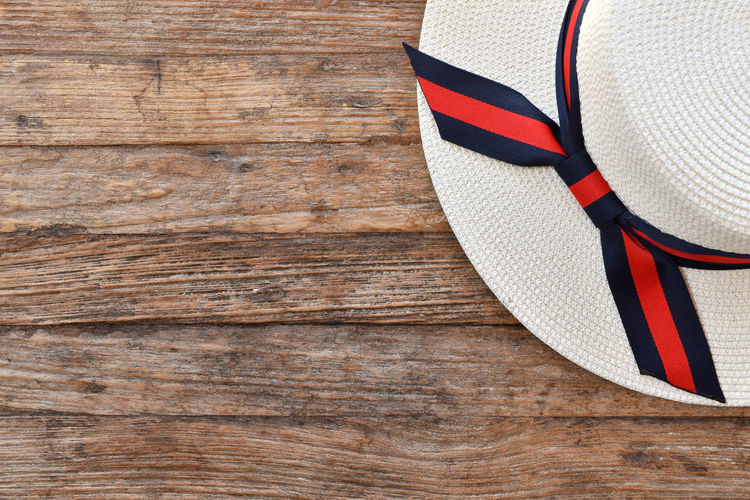 Hat on a wooden