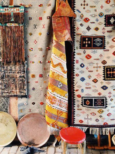 Shopping in Marrakech. Marrakech Morocco Rugs Decor Travel Berber  Azilal Boucherouite Souk Medina