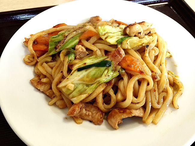 lunch♡ Yammy!!  Udon Lunch ホルモン焼きうどん