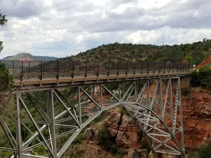 Bridge - Man Made Structure Built Structure Architecture Day Cloud - Sky Outdoors Sky No People NoEdits  Sedona, Arizona Desert Landscape Redrockcanyon Scenics Nature Reserve Beauty In Nature Rock Formation Bridge Solitude And Silence
