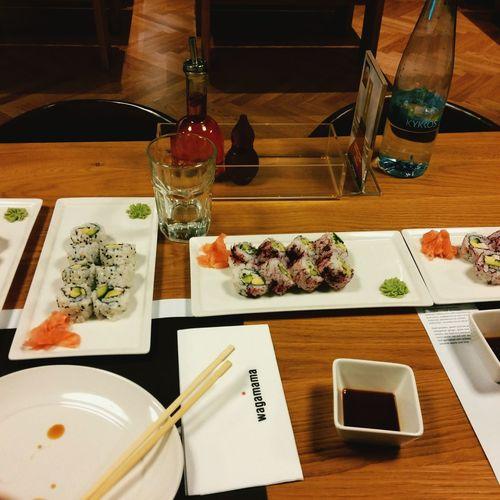 Sushi Eating Delicious Sushi Time Faboulus Wagamama Paphos Cyprus