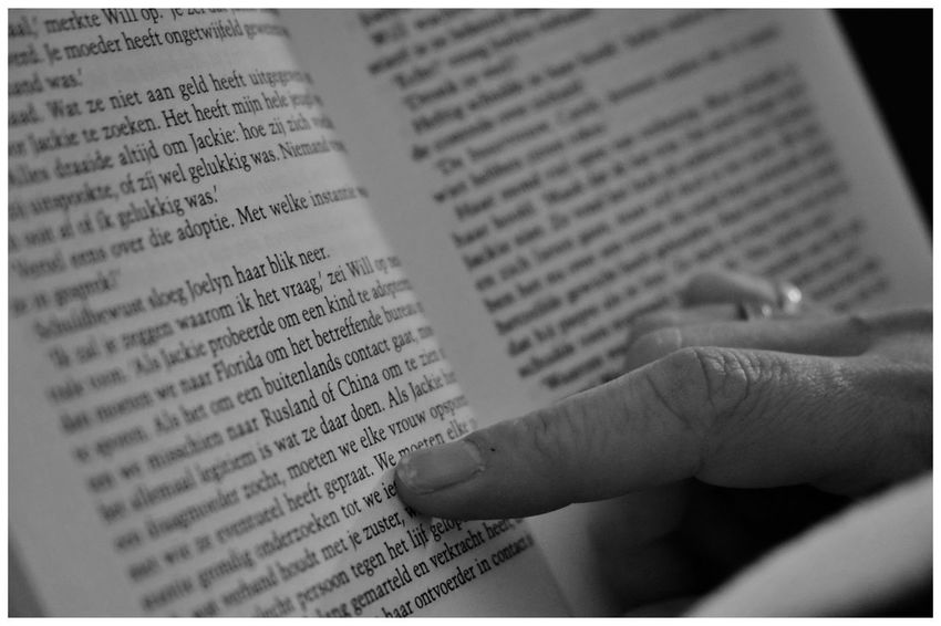 Reading Reading A Book Blackandwhite Blackandwhite Photography Blackandwhitephotography Blackandwhitephoto Black And White Black And White Photography EyeEm Best Shots - Black + White Bandw Human Hand Learning Education Book Close-up Text