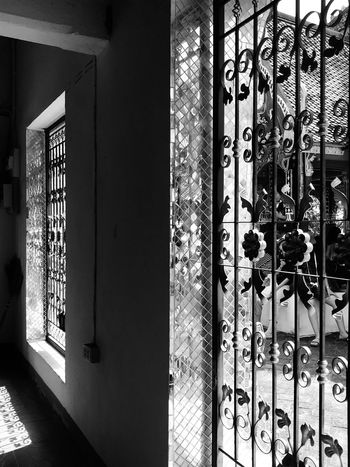 Black and white Thainess EyeEm Selects Architecture Built Structure Pattern No People Door Entrance Indoors  Protection Floral Pattern Wall - Building Feature