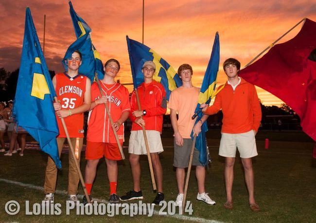 Flag crew for Wren Hurricanes High School Football Wren High School Football before the game.