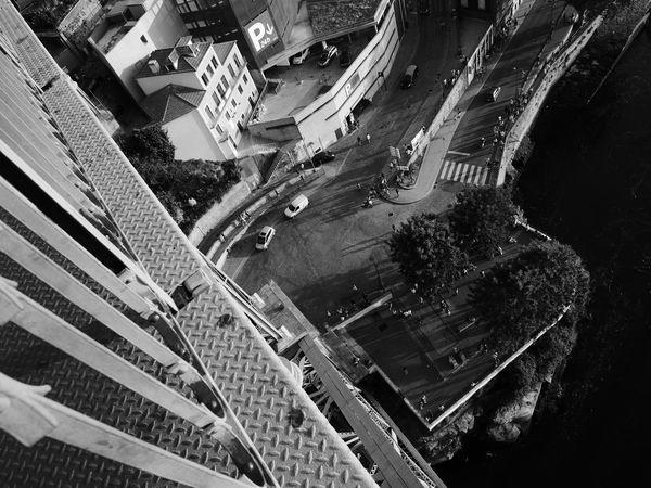 Ponte Luis I Blackandwhite Bridge High Angle View Outdoors Streetphotography