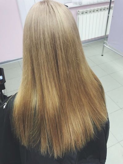 Hair Hairstyle Indoors  Rear View Long Hair One Person Real People