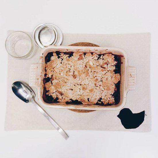 continuing the blueberry madness: paleo blueberry crisp || Vscocam Paleobaking Paleo Blueberry seattlelife baking eatlocal eatfresh