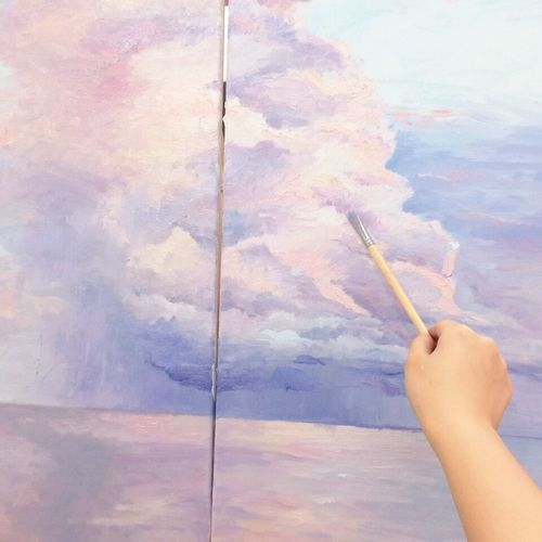 Relaxing Enjoying Life Looksgood My Drawing Oil Painting Clouds And Sky Art