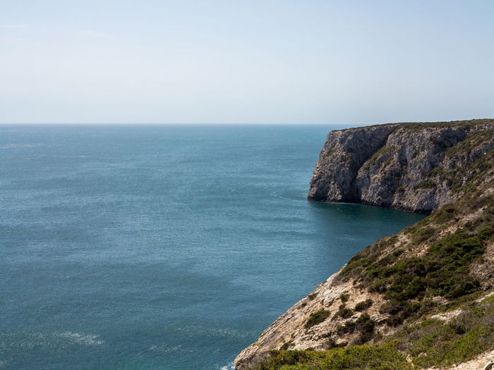 Cabo da Roca - Beautiful coastline of Portugal with Atlantic ocean and beach Sea Water Scenics - Nature Horizon Over Water Horizon Sky Beauty In Nature Tranquil Scene Tranquility Rock Land Idyllic No People Rock - Object Nature Day Cliff Solid Non-urban Scene Outdoors