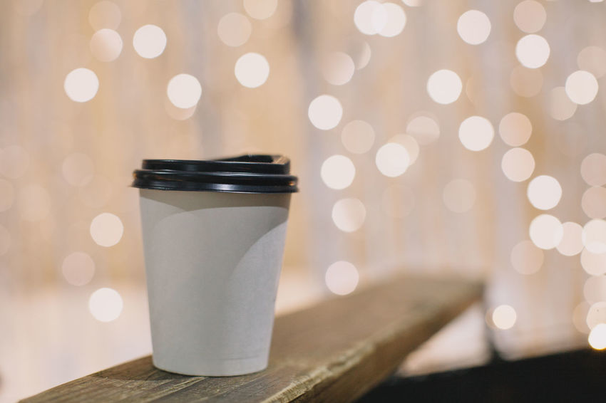 Close-up Coffee Cup Day Focus On Foreground Illuminated Indoors  No People Table Take Away Coffee