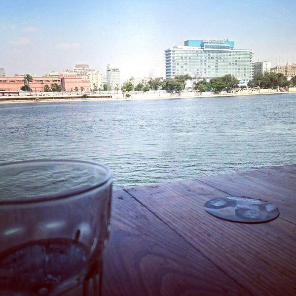 Cap tea on nile rever . Csiro. Egypt Egypt Cairo Visit Egypt Nile River