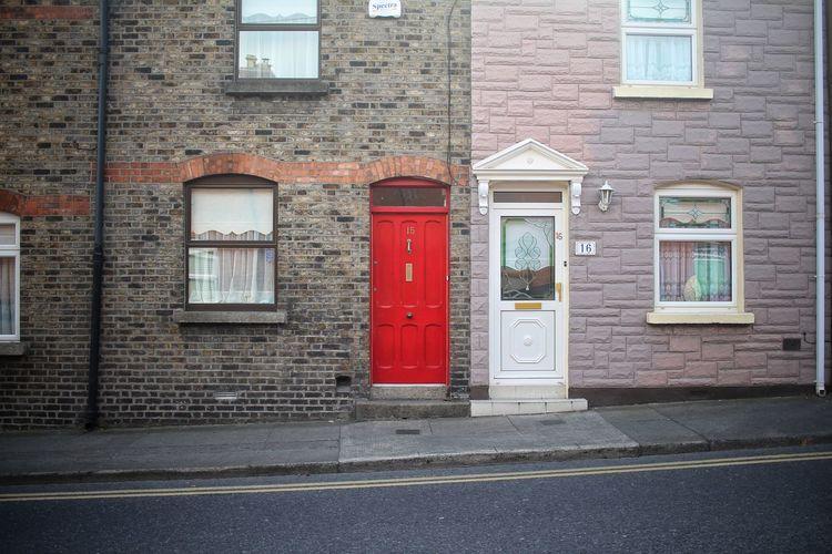 Road Window Street Door Red Architecture Building Exterior Built Structure