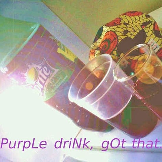 Could be purple or pink Daily drink Codeine
