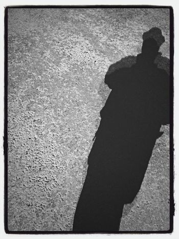 I'm in my own Shadow Monochrome Black And White That's Me