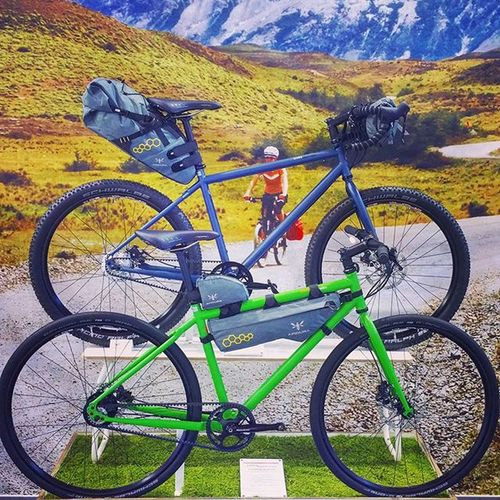 I like the new crossover models from Toutterrain . Top for short time Biketouring 👍 Eurobike2015 Eurobike Fahrrad Fahrradfahren Cinq5 Cycling Flashpacking Bikelove 😚 Picoftheday