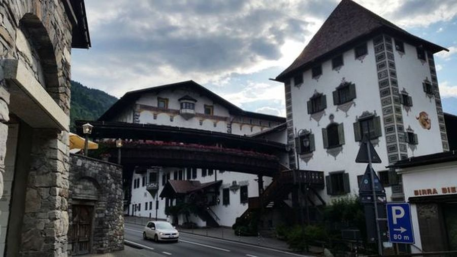 Forst Forst Algund Lagundo Trentino Alto Adige Italy Braugarten Beer Architecture Built Structure Building Exterior Sky Cloud - Sky Transportation City Building Mode Of Transportation Nature Text Communication Car Motor Vehicle Road Land Vehicle Day Residential District Street