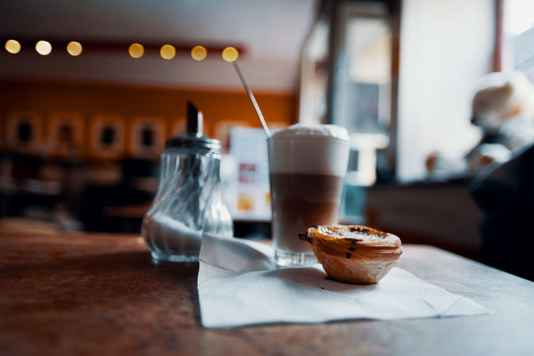 The world needs more natas! Nata Food And Drink Food Table Indoors  Freshness Focus On Foreground Still Life Selective Focus Glass Cake Sweet Sweet Food Coffee Coffee - Drink Galao Drink Refreshment Drinking Glass Household Equipment Coffee Time Restaurant Business Paper Cafe