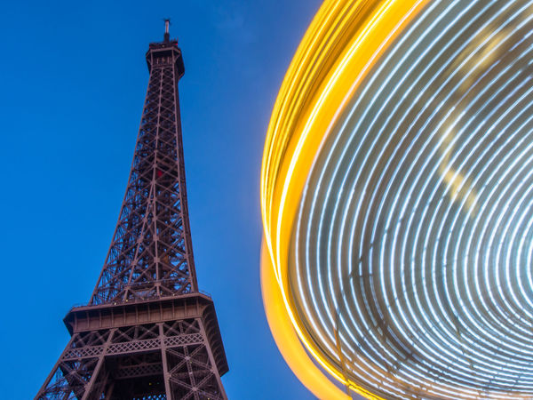 Architectural Feature Architecture City Eiffel Tower Famous Place France International Landmark Low Angle View Merry Go Round Paris An Eye For Travel