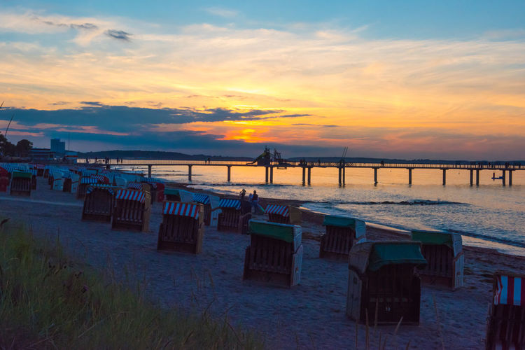 Baltic Sea Beachbasket Footbridge Sunlight Tranquility Beach Beauty In Nature Go-west-photography.com Horizon Over Water Horizon Over Water Tranquility Idyllic Jetty Nature Outdoors Sand Scenics Sea Shore Sky Sun Sunset Tranquil Scene Tranquility Vacations Water