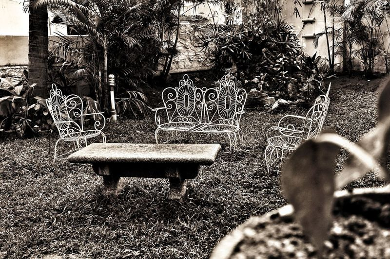 Day No People Outdoors Nature Monochrome Garden Chairs And Tables Chairs Garden Furniture Tranquility